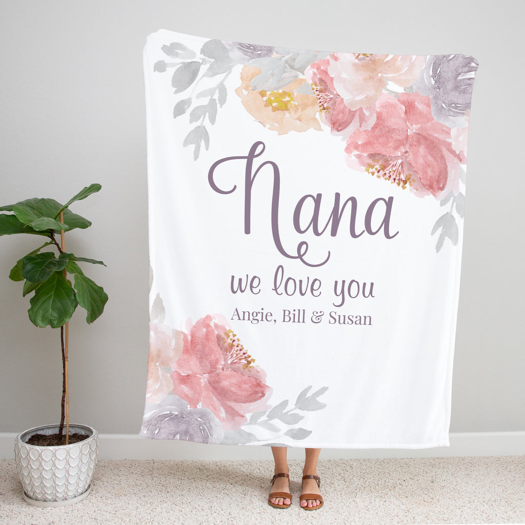 Blushing Blooms Personalized Gift for Nana