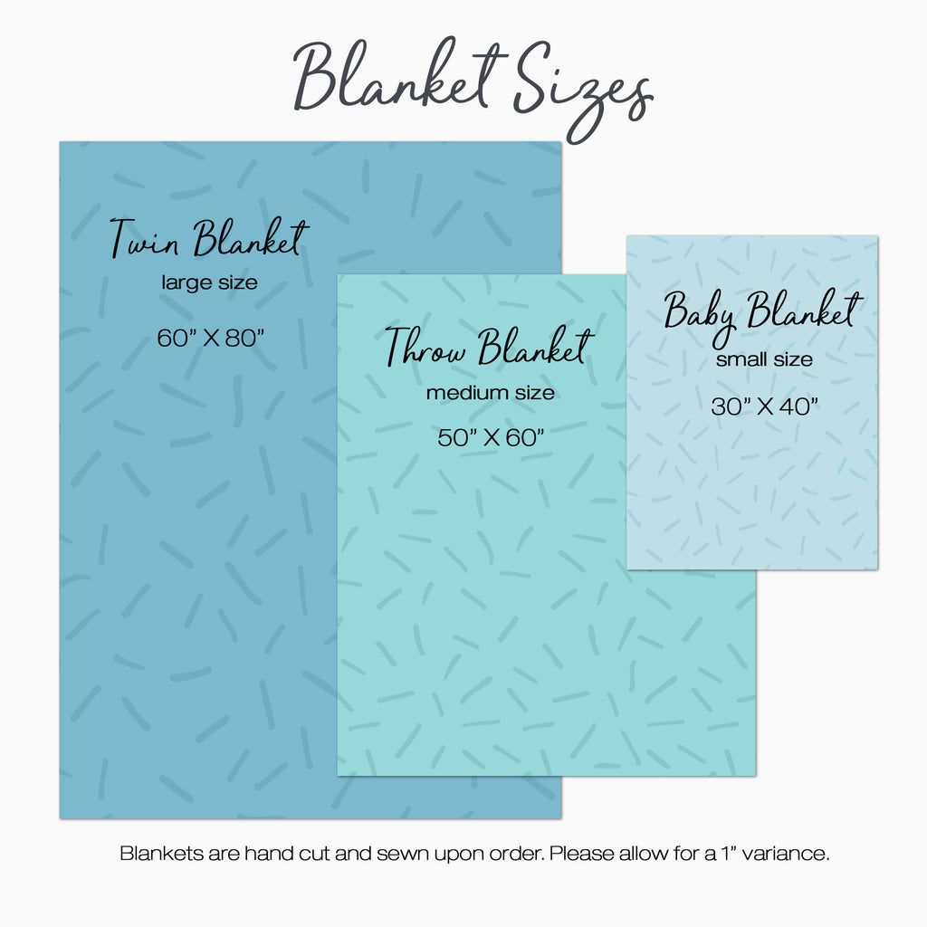 Personalized Minky Blanket Sizes