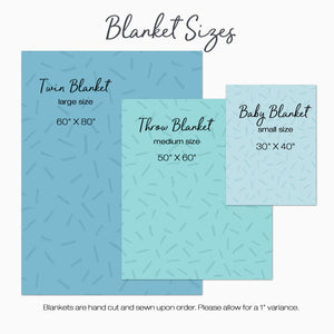 Personalized Blanket Size Charts
