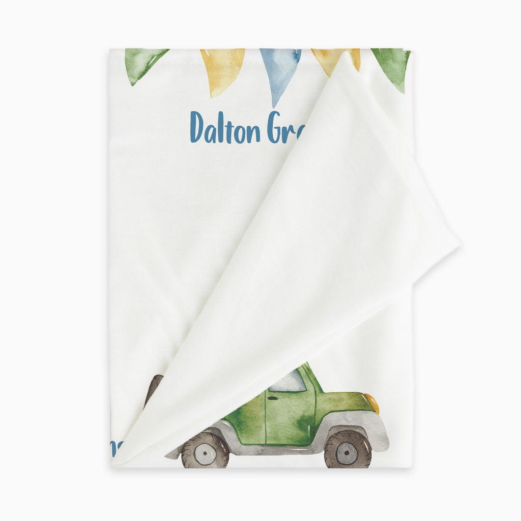 Cars & Trucks Milestone Baby Blanket for Twin Baby Gift