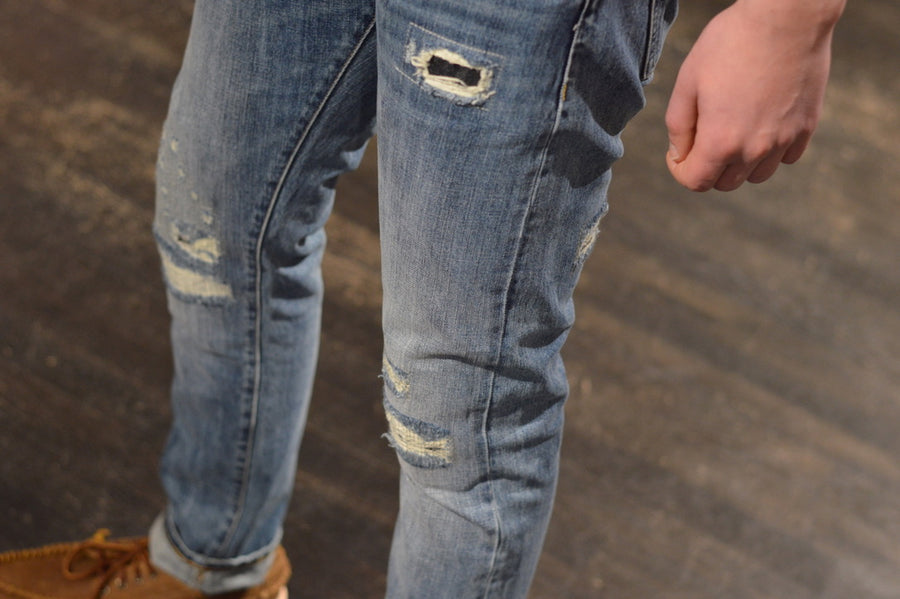 C.O.F. Studios M3 Reg. Tapered 13oz Indigo - Repaired