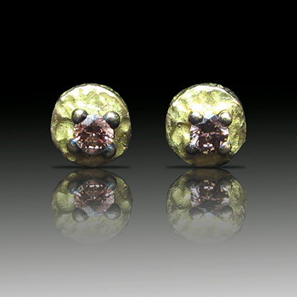 Pendientes de oro y diamante brown modelo Dufek