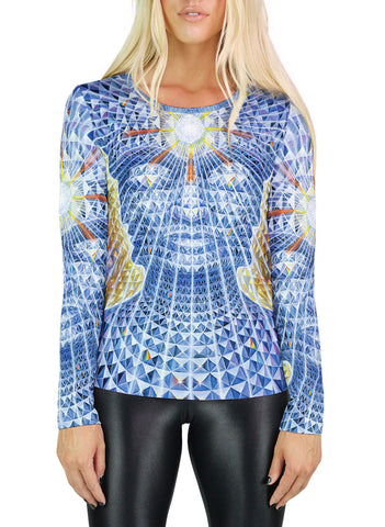 Diamond Being Womens Long Sleeve