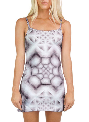 Ink Wash Grey Mini Dress