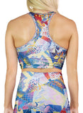 Blue Chaos Swatch Racerback Crop