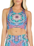 Evolve Inverted Patterned Racerback Crop