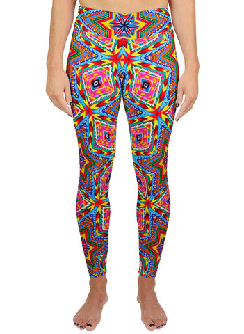APOTHEOSIS OF DUALITREE PATTERN ACTIVE LEGGINGS