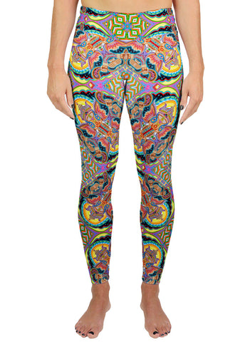 JAI GANESHA! PATTERN ACTIVE LEGGINGS