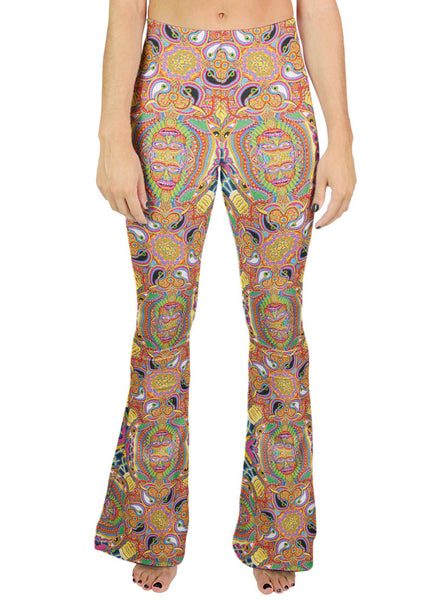 Neo Human Evolution Pattern Bell Leggings