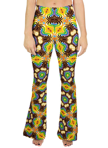 PEELING BODIES PATTERN BELL LEGGINGS