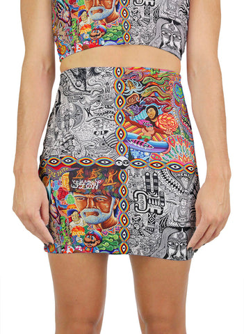 Chaos Culture Jam Mini Skirt