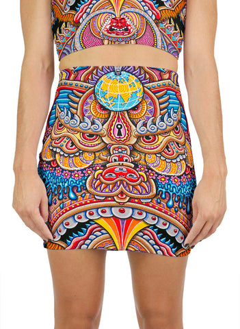 Kundalini Rising Mini Skirt