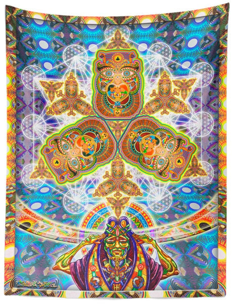 Healing Fractal Dimension Tapestry
