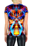 Galactic Sphinx Scoop Neck T-Shirt