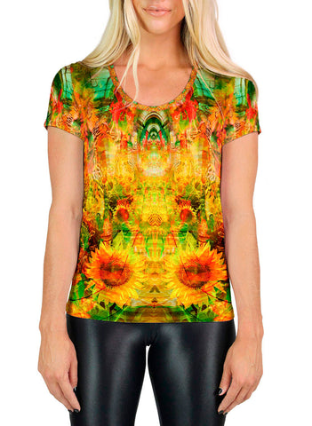 Sun Halls SCOOP NECK T-SHIRT