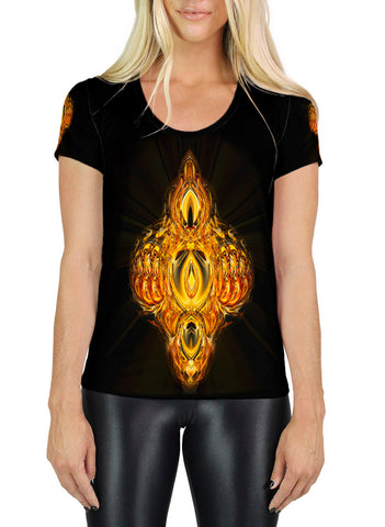 Golden Amulet SCOOP NECK T-SHIRT