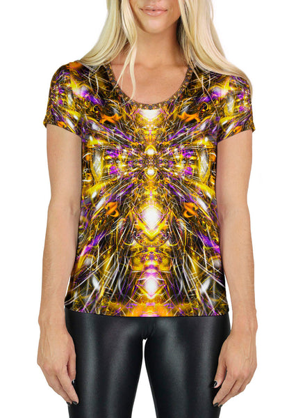 Diamonds and Thunderbolts Scoop Neck T-Shirt