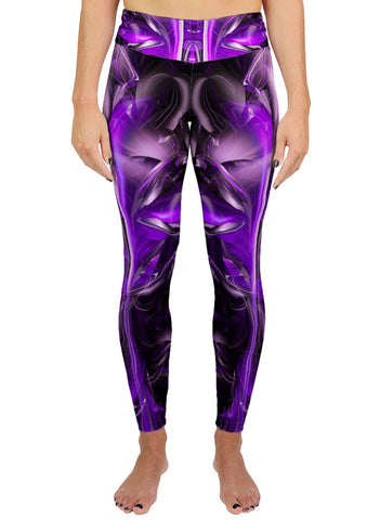 Purple Alien Active Leggings