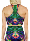 Rainbow Smoke Racerback Crop