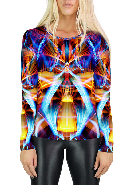 Galactic Sphinx Womens Long Sleeve