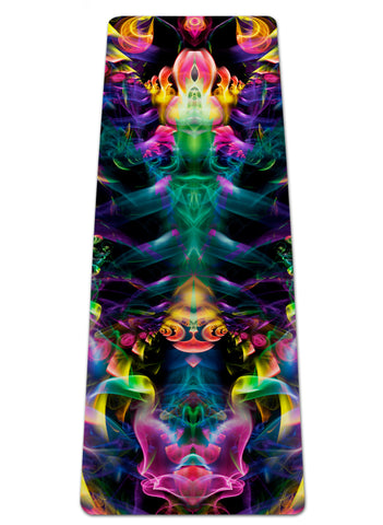 Rainbow Smoke Yoga Mat