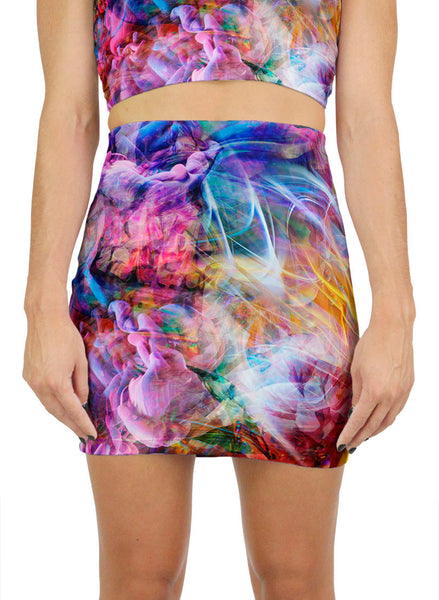 Psychedelic Circus Mini Skirt