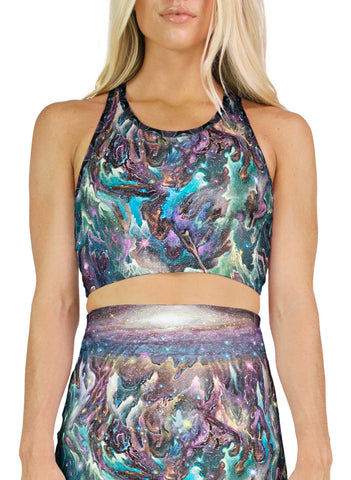 Galactic Jelly Racerback Crop