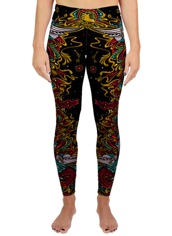 Peace Mandala Active Leggings
