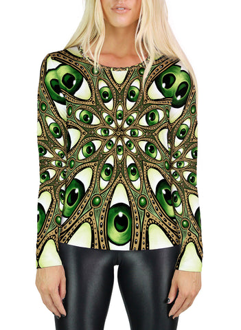 Om Mandala Womens Long Sleeve