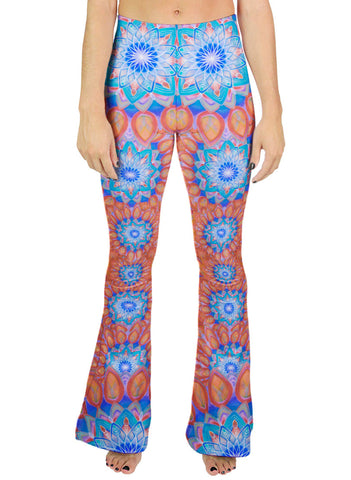 Union Mandala Orange Bell Leggings