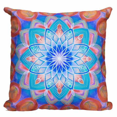 Union Mandala Orange Pillow