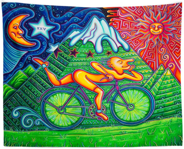 Bicycle Day Tapestry