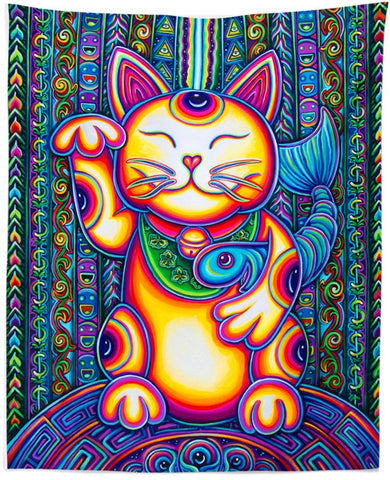 Lucky Cat Tapestry