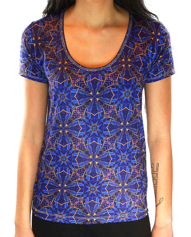 Myth of Freedom Pattern SCOOP NECK T-SHIRT