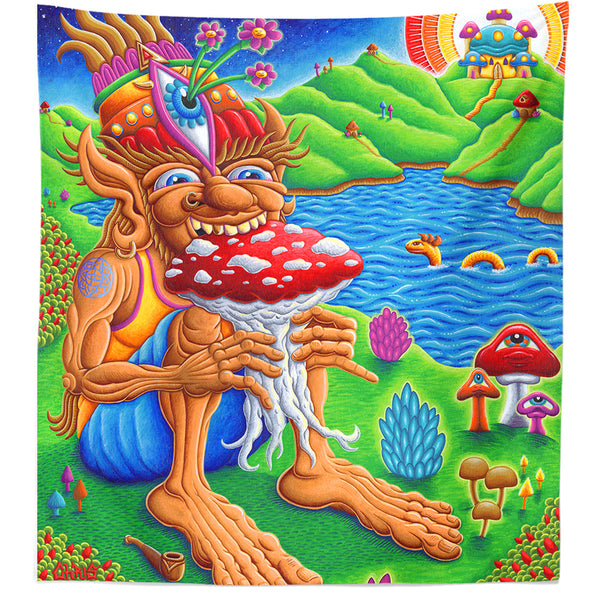 Muncher of Mushroomland Tapestry
