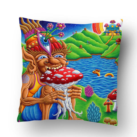 Muncher Of Mushroomland Pillow