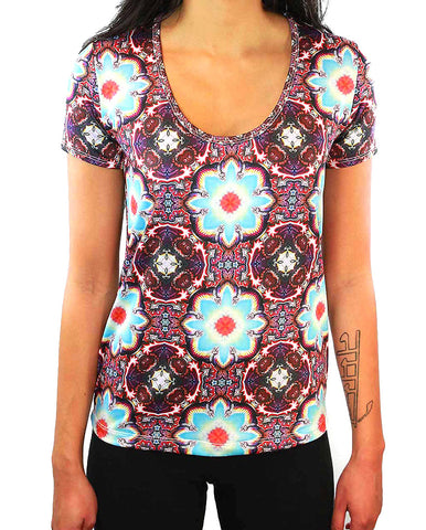 Alan Watts Pattern SCOOP NECK T-SHIRT