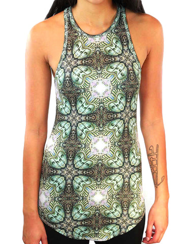 Temple of Gnosis Pattern Racerback Tank