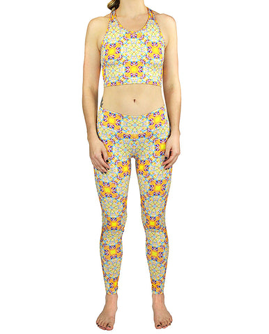 Tetragrammaton Pattern 2 Active Leggings