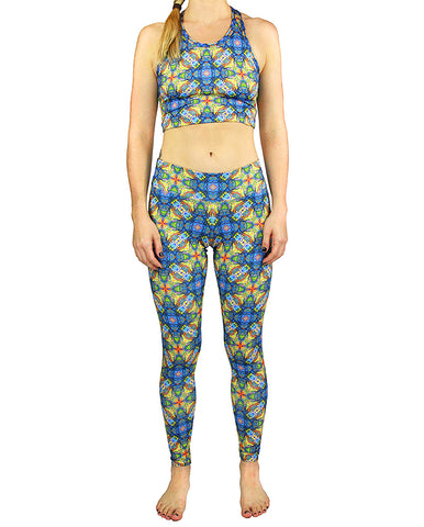 Tetragrammaton Pattern Active Leggings