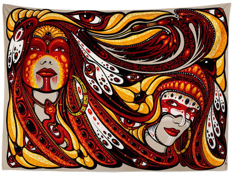 Two Sisters Tapestry