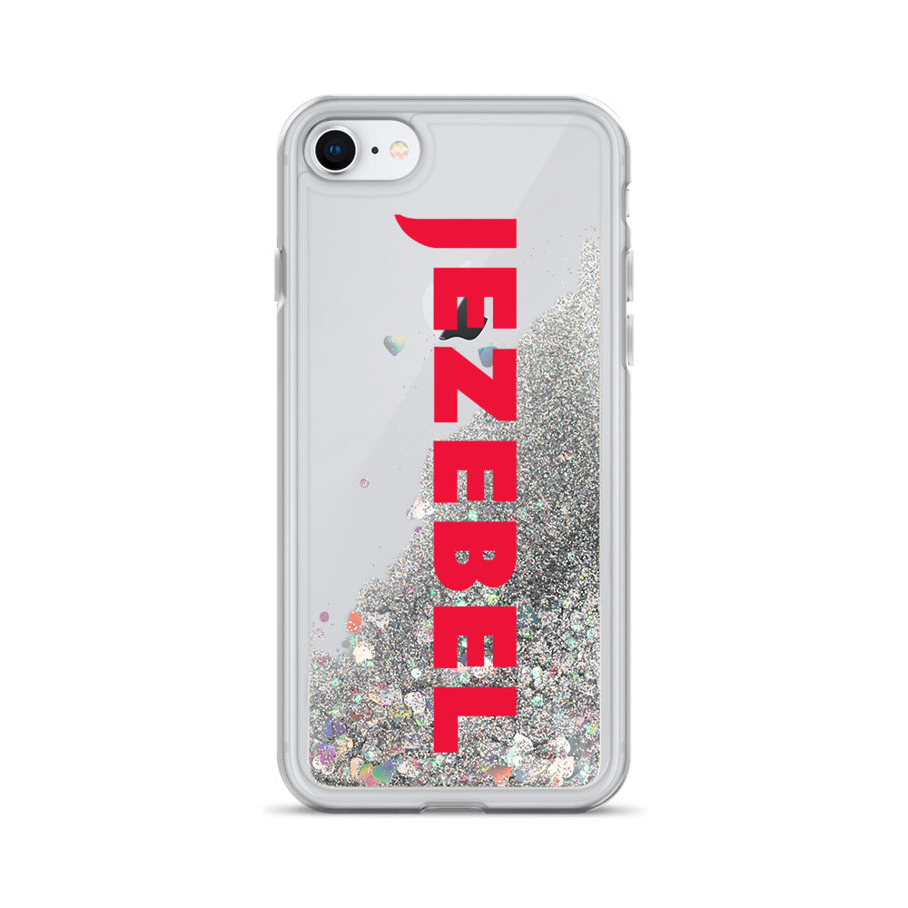Jezebel Logo Liquid Glitter Phone Case