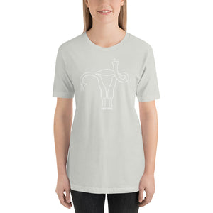 """Uterus Middle Finger"" Unisex T-Shirt"