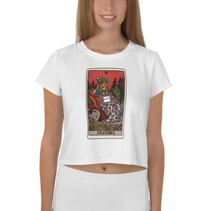 Tarot Card White Crop T-Shirt