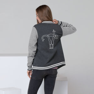 """Uterus Middle Finger"" Letterman Jacket"