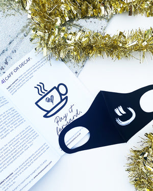 Black Smiley MASK +  KINDNESS BOOK - DUO | Black Smiley - wordscount
