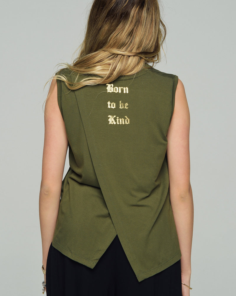 ALEXA - BORN TO BE KIND | Military Green - wordscount