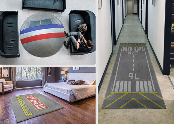 Aviation and Travel Themed Rugs