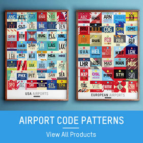 Airport code pattern products