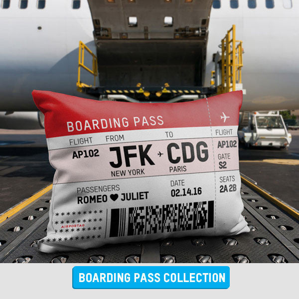 Personalized Boarding Pass themed Gifts
